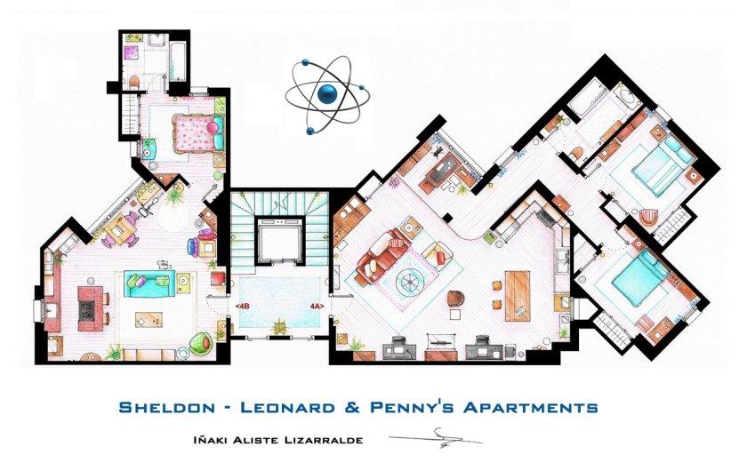Iñaki Aliste Lizarralde - Sheldon, Leonard & Penny's Apartement